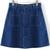 With Pockets Buttons Denim Skirt