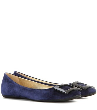suede blue shoes