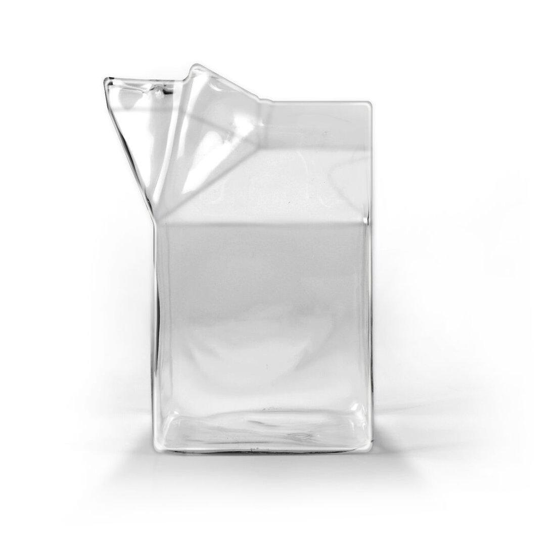 Amazon.com: Fred & Friends HALF PINT Glass Milk Carton Creamer: Kitchen Products: Kitchen & Dining