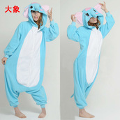 coat,animal onesies,elephants onesies,kigurumi animal onesies,kigurumi onesies,onesie