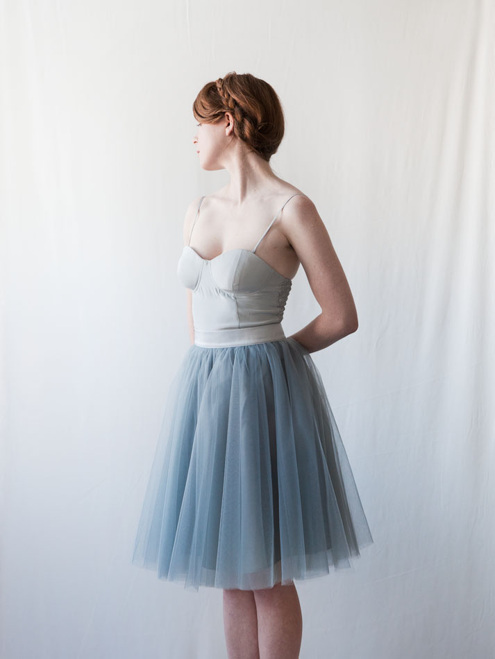 gretta tulle skirt dusty blue 24