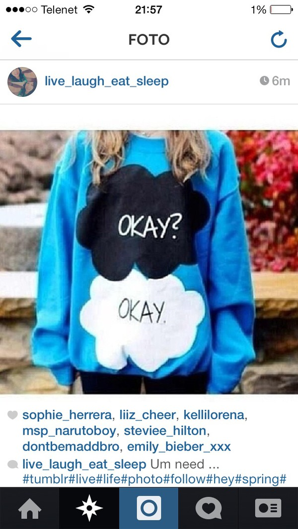 the fault in our stars the fault in our stars sweater weheartit tumblr sweater