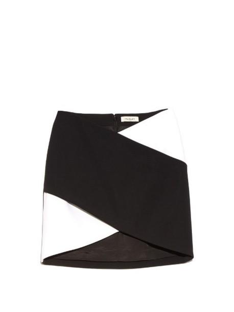 MUGLER skirt mini skirt mini white black
