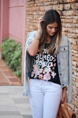 shirt black romeo vintage t-shirt floral flowers ombre