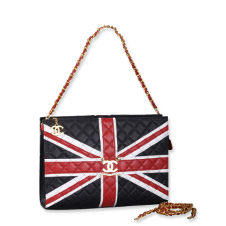 Chanel Union Jack Quilted Bag Large - $198