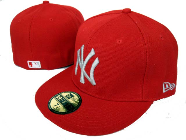 New York Yankees New Era 59fifty Fitted Red Hats H1589