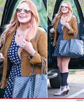 dress,daisy,floral,lindsay lohan,celebrity,lucca couture