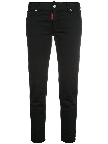 Dsquared2 jeans cropped jeans cropped women spandex cotton black