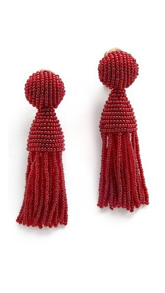 short tassel beaded earrings jewels