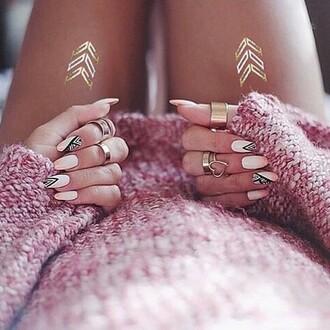 make-up tattoo gold fashion