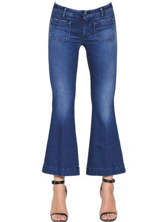 jeans denim short cotton blue