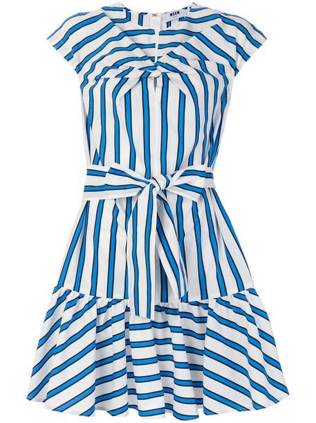 MSGM dress striped dress women cotton blue