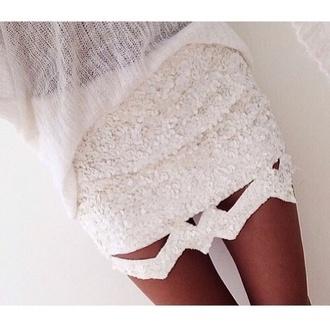 White Sequin Skirt - Shop for White Sequin Skirt on Wheretoget