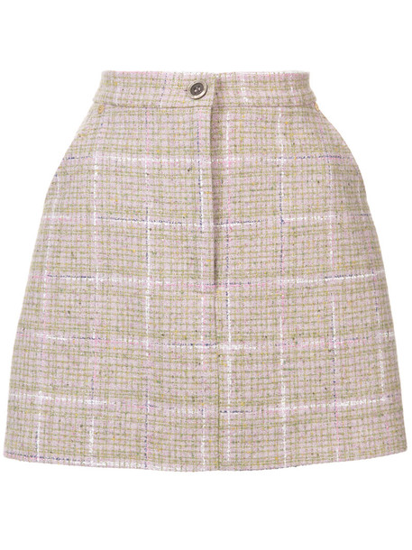 skirt mini women silk wool