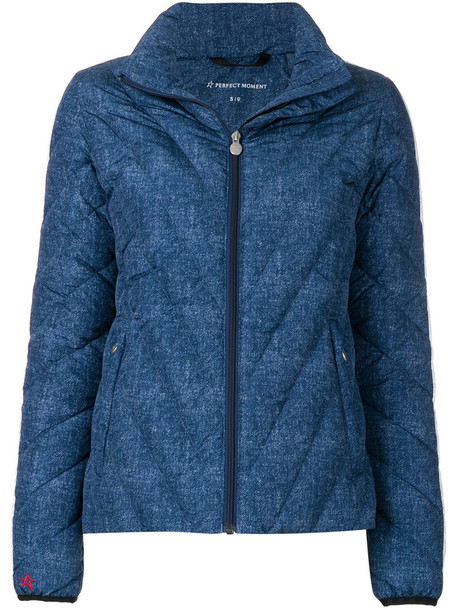 jacket mini women blue