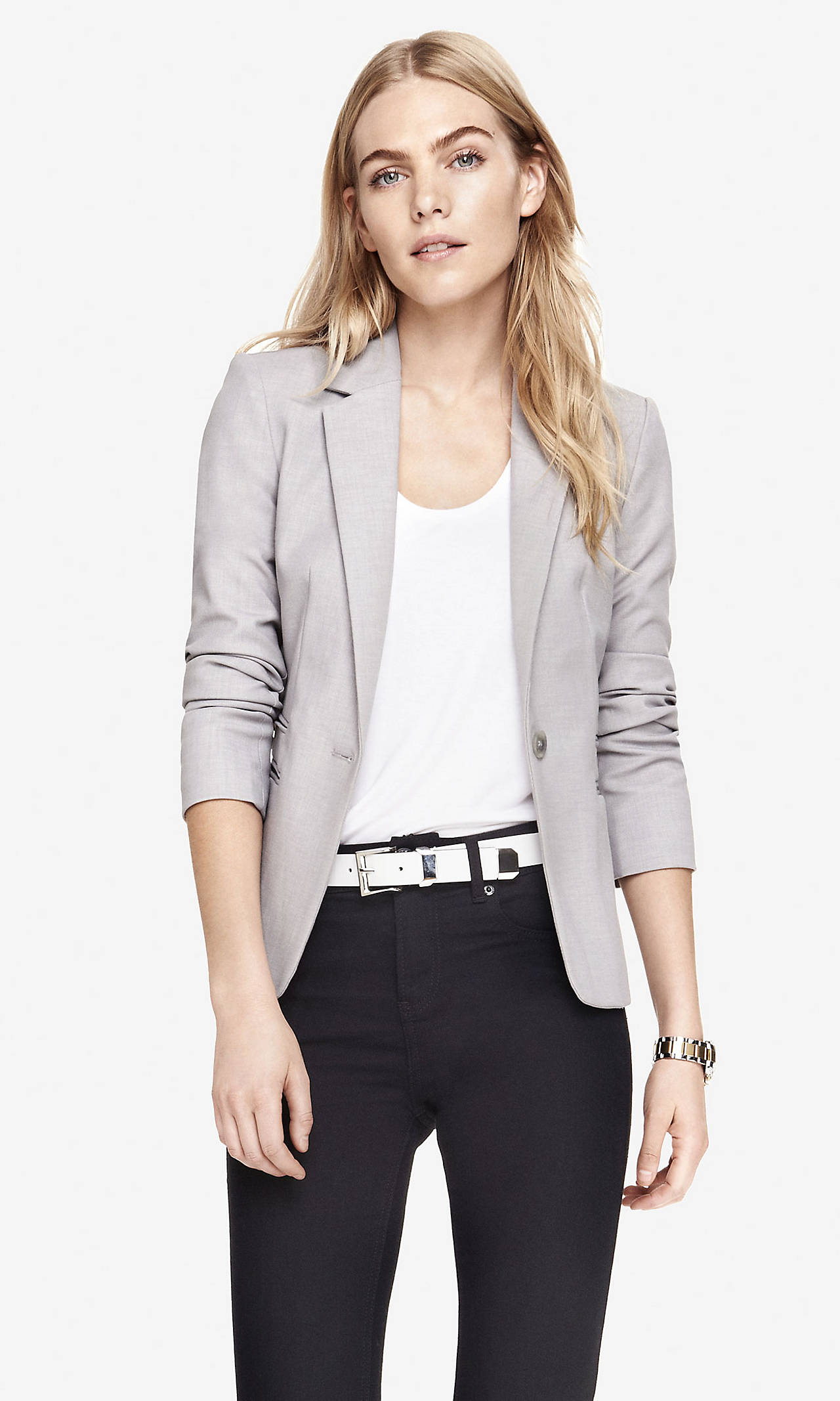 24 inch one button jacket from express