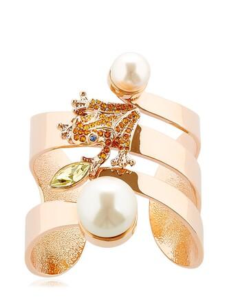 cuff cuff bracelet orange jewels