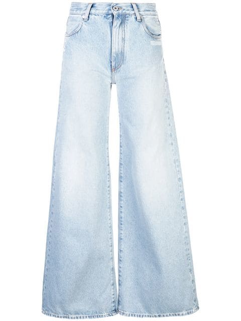 Off-White wide-leg Jeans - Farfetch