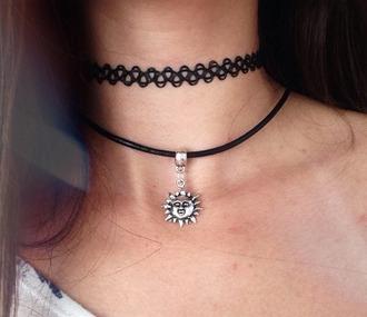 jewels jewelry sun necklace sunray