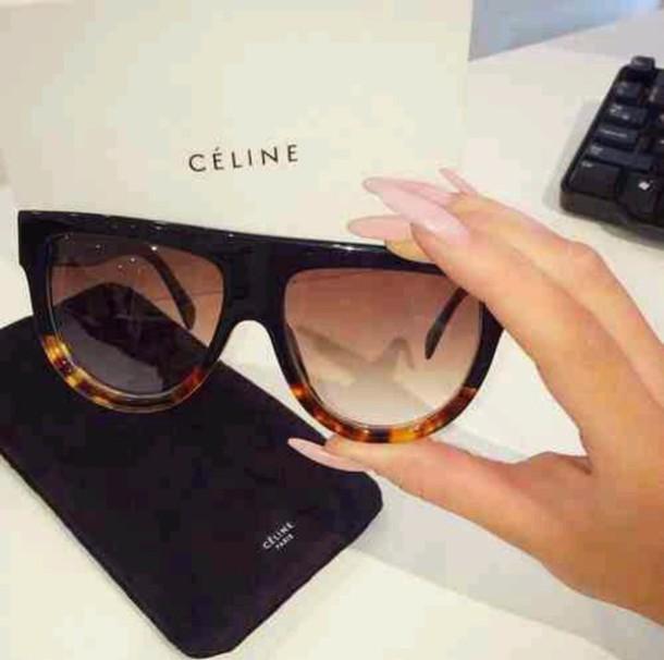sunglasses céline sunnies glasse celine sunnies sunglasses black vintage sylish style fashion jumpsuit dress hat hair accessory face make-up celine prada