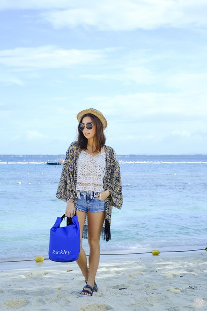 kryzuy blogger hat kimono summer outfits