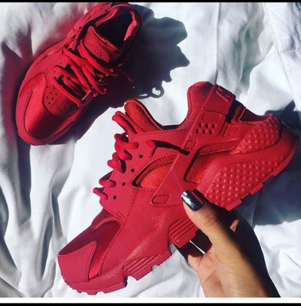 fdc06511a3637 shoes red nike color red lovely twitter huarache cute nike running shoes  nike sneakers colorful instagram