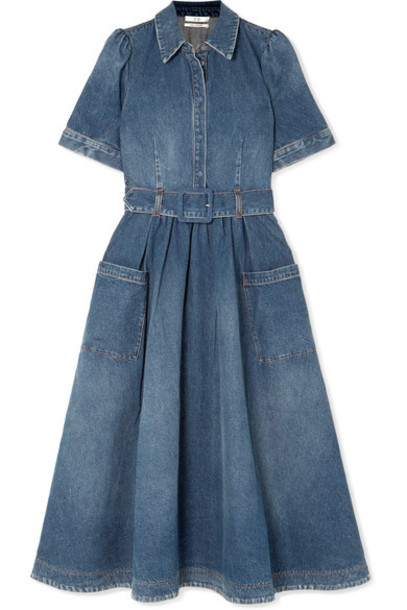 CO dress midi dress denim midi blue