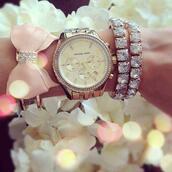 jewels,jewelry,watch,cute bow,bracelets