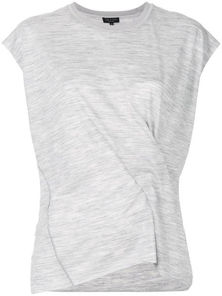 t-shirt shirt t-shirt women silk wool grey top