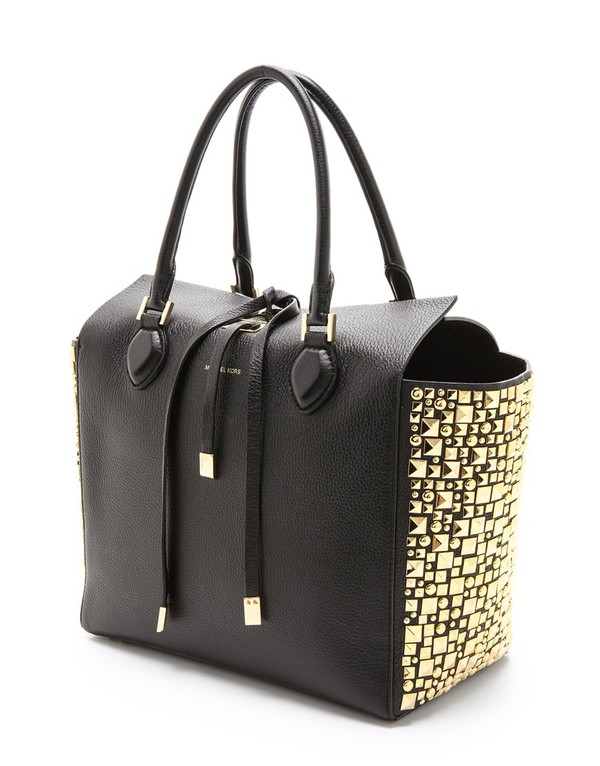 bag leather bag black bag studded bag wheretoget. Black Bedroom Furniture Sets. Home Design Ideas