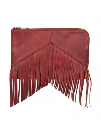 bag burberry bag wallet fringe