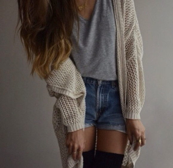 sweater shorts shirt grey t-shirt lazy days coat