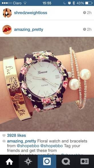 jewels girly clock