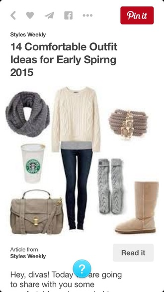 bag idk sweater gloves top home accessory jacket jeans leggings shoes scarf