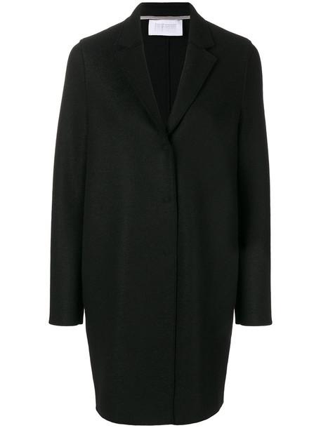 coat women fit black wool