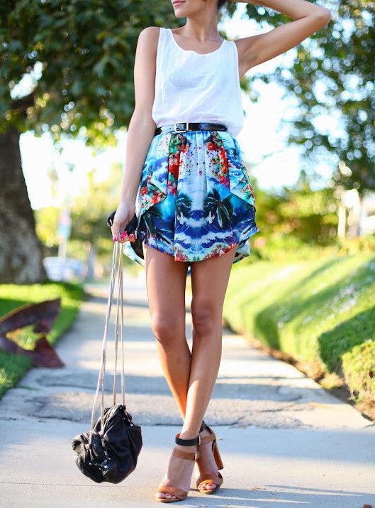 Zara Asymmetric Skirt Tropical Print Festival Season Bloggers Favorite | eBay