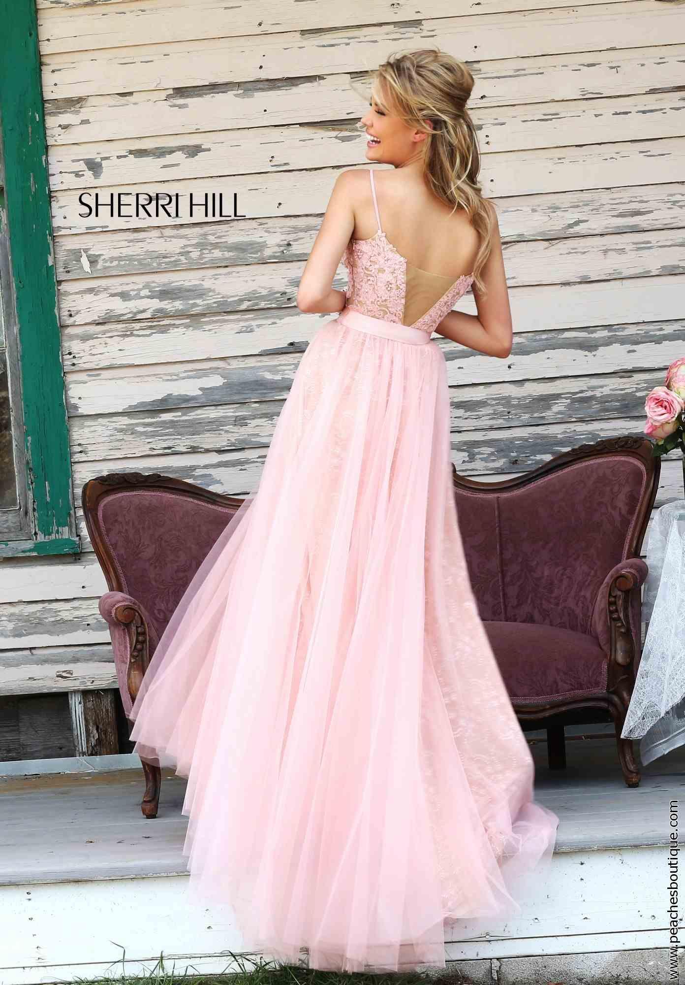 Lace Bodice Sherri Hill V
