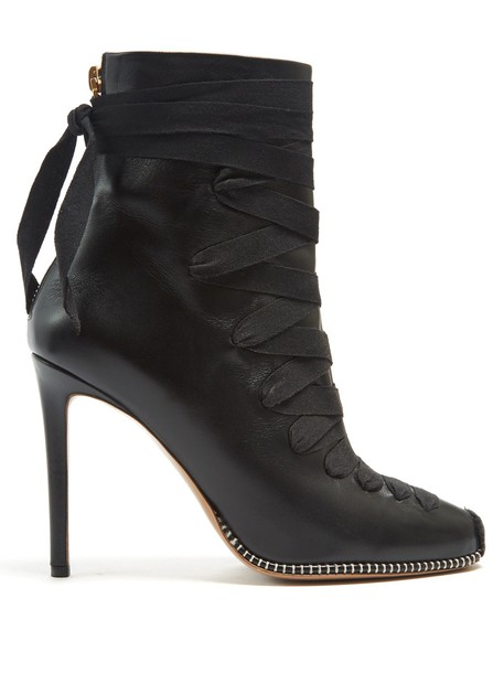 Altuzarra leather ankle boots ankle boots lace leather black shoes