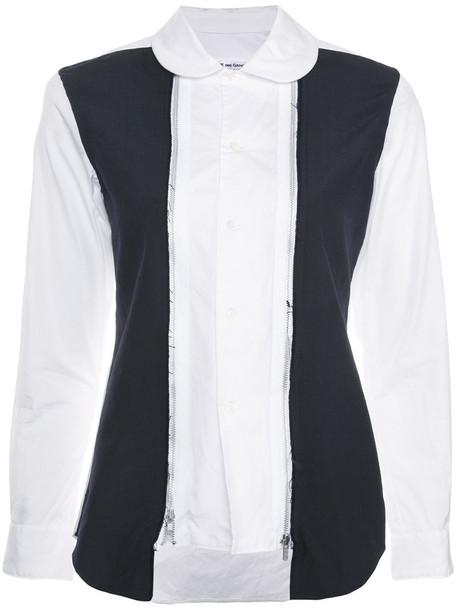 Comme des Garçons Comme des Garçons shirt women white cotton wool top