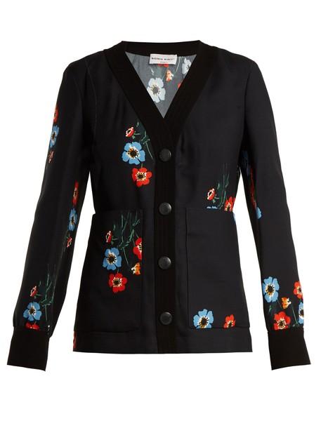Sonia Rykiel top floral print black