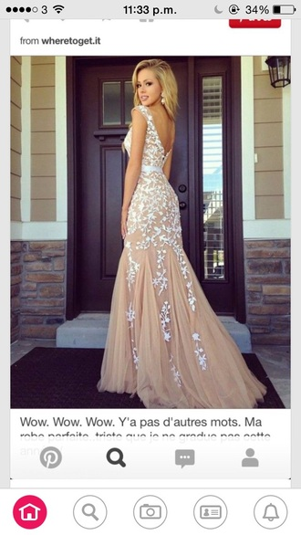 dress long prom dress prom dress beautiful dresses elegant dress nude dress
