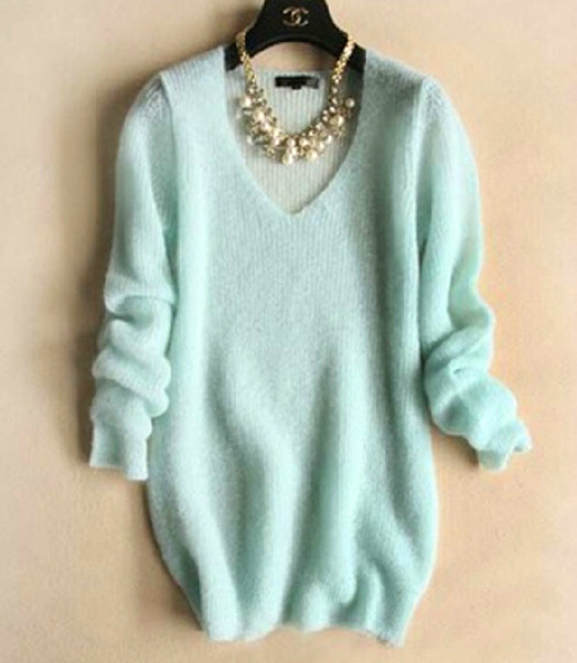 Neck knit sweater vd1117be