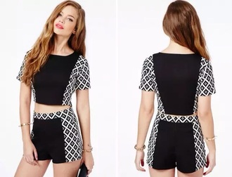 shorts two-piece co-ord set