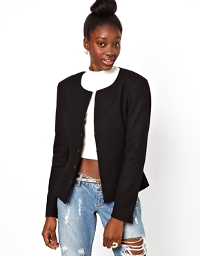 POP CPH | POP Cph Heavy Wool Boucles Jacket at ASOS