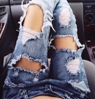 jeans denim distressed denim ripped jeans