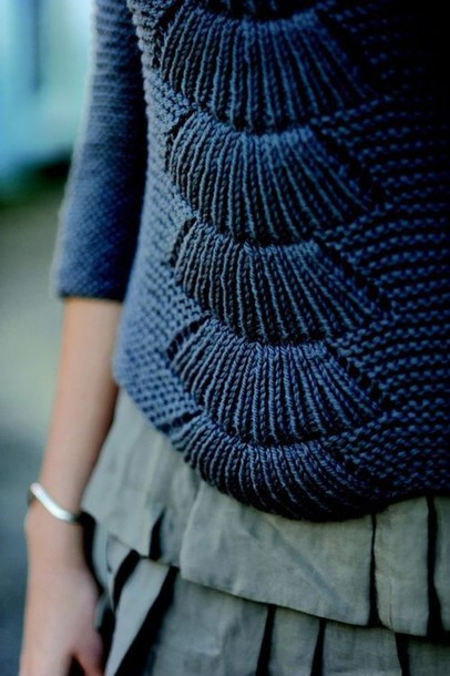 sweater skirt pullover navy knitwear