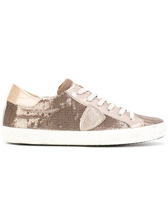 women embellished sneakers lace leather nude shoes