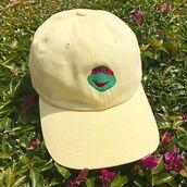 hat,dad hat,popsicle,pop art,ninja turtles,raphael,ice cream,ice cream truck,mellow,hypebeast,streetwear,bobs liquor store