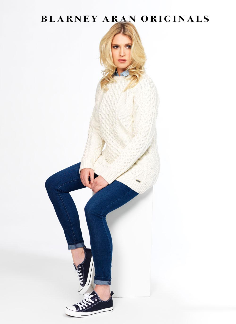 Molly Aran Crew Neck Sweater | Blarney