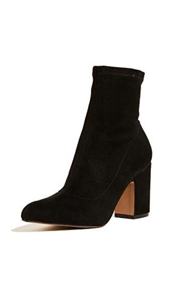 Steven heel booties black shoes